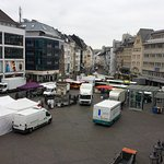 First thing in the morning, the Marktplatz is full of delivery trucks