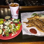 Original Gyro, Greek Salad and Iced Tea