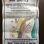 NEX Graduation Shuttle Bus Ticket available at Navy Lodge Lobby.