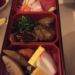 Half of the Beef Bento box