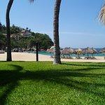 La playa vista desde la alberca