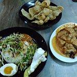 must try!!! RM4 Nasi Kerabu. RM8+ Ayam Percik. RM3+ keropok