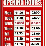 New opening hours in August