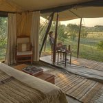 Guest bedroom interior at Encounter Mara.