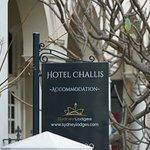 Signage outside hotel