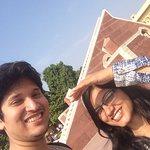 I and Kavi at Jantar Mantar