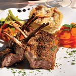 Roast rack of lamb with thyme