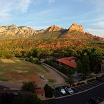 """From from a top floor """"Red Rock View"""" room balcony."""