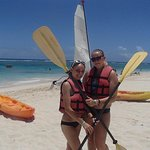 Kayaking from the beach