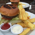 Beef burger - burgers are buy one get one 1/2 price 12-3 and 6-7