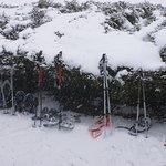 pause sous la neige