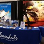 Gold Key Travel/Sandals Resort Booth at a recent Bridal Show