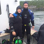 Preparing to dive the Niagara