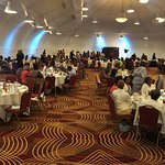 Event for 200+... Seating room, dance floor, and photographer area in back.