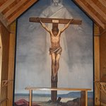 The main fresco in the church, of the crucifixion