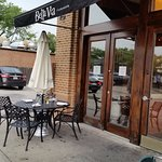 Outdoor seating at Bella Via in HIghland Park
