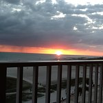Watching the sunset from my balcony!