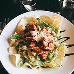 Caesar salad with tandoori chicken
