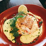 Red Snapper with Roast pepper Risotto