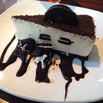 The rather delicious Oreo Cheesecake and the 'conservatory' area specifically set aside for eati