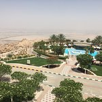 lovely large pool with Al Ain in the distance