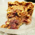 Vegan Apple Berry Rhubarb Pie