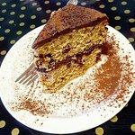 Vegan Mocha Cake and Apple Crumble