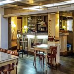 The bar and breakfast table