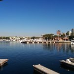 viewing the aquarium across the harbor