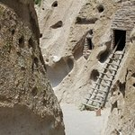 One of the cliff dwellings you can climb and enter to see the inside.