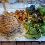 Burger aux cepes et au foie gras!!! Somptueux!!!