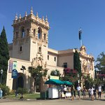 Walking around the beautiful Balboa Park