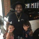 David Ortiz with my kids