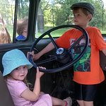 Driving their truck