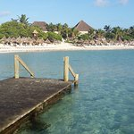 Dock on Akumal beach - near main pool/lobby