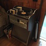 The obsolete 8 track and record player provides musical enjoyment at the Island Oasis.