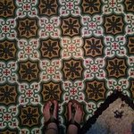 Always with the amazing Moroccan tiled floors!!