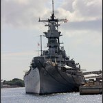 Battleship Missouri from the Arizona