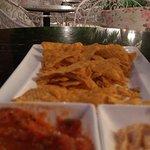 Nachos with salsa sauce