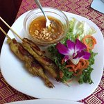 Chicken Skewers with peanut sauce