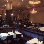 The dining room... quiet and elegant