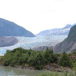 A close up of Mendenhall Glacier
