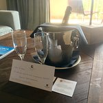 Complimentary bottle of cava upon entering our suite