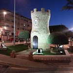 The Torre at night.