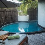 Private pool at one of the lodges.