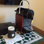 Nespresso  machine in the room..