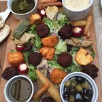 Assorted Vegetarian Options Sharing Platter - Also Pittas Not Shown
