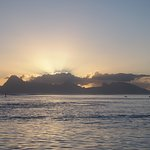 Spectacular sunsets over Moorea