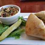 $15 lunch special salmon and quinoa salad.