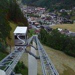 Shuttlebahn vom Zentrum Sölden nach Innerwald, Blick auf Sölden